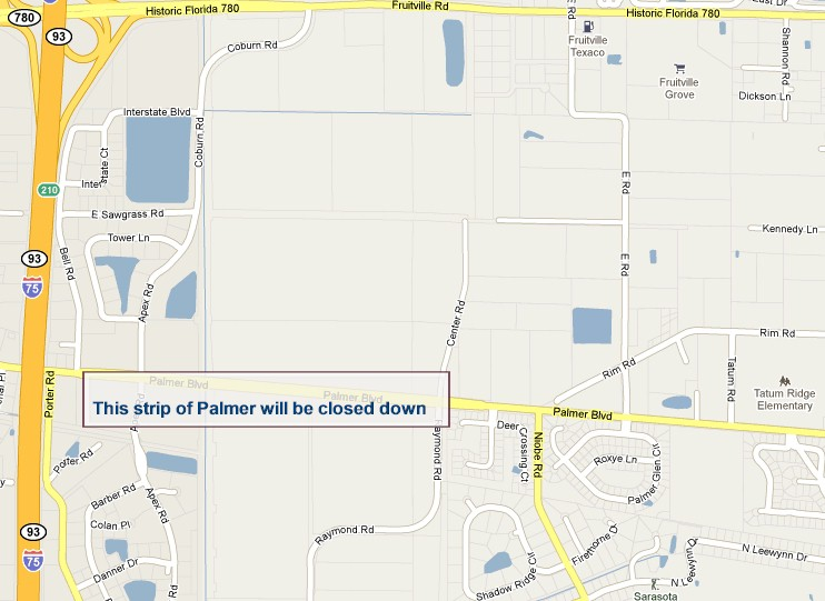 The Enclave Blog Team bringing you the news from Sarasota County on the detour for Palmer Road as of June 7